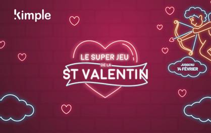 Invitation à jouer au jeu Kimple spécial Saint-Valentin , tester une de nos mécaniques