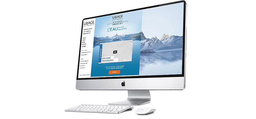 Jeu concours quiz Uriage écran desktop vidéo